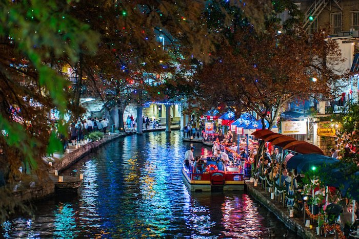 The Riverwalk at Night, San Antonio, TX